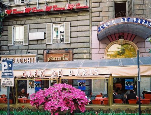 Los viejos cafes de Roma