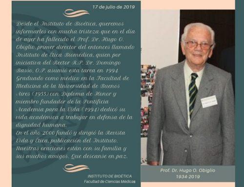 Ha fallecido el Dr. Hugo Obiglio