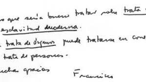 Escrito del Papa Francisco