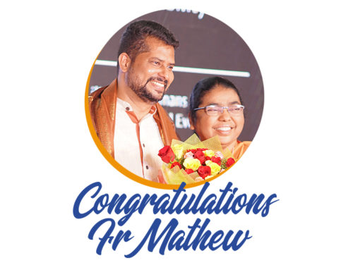 India: Extended the tenure of Fr. Mathew