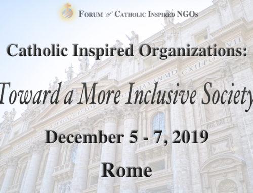 Forum of Catholic NGOs: Plenary meeting (Dec 5-7, 2019)
